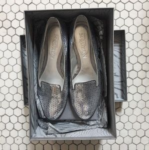 Alexander McQueen sequin loafers